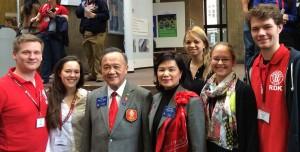 Rotaracter aus dem Distrikt zusammen mit Rotary International President Gary Huang auf der Deutschland-Konferenz in Aachen