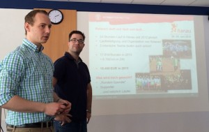 Jan und Alexis stellen den 24 Stundenlauf in Hanau vor